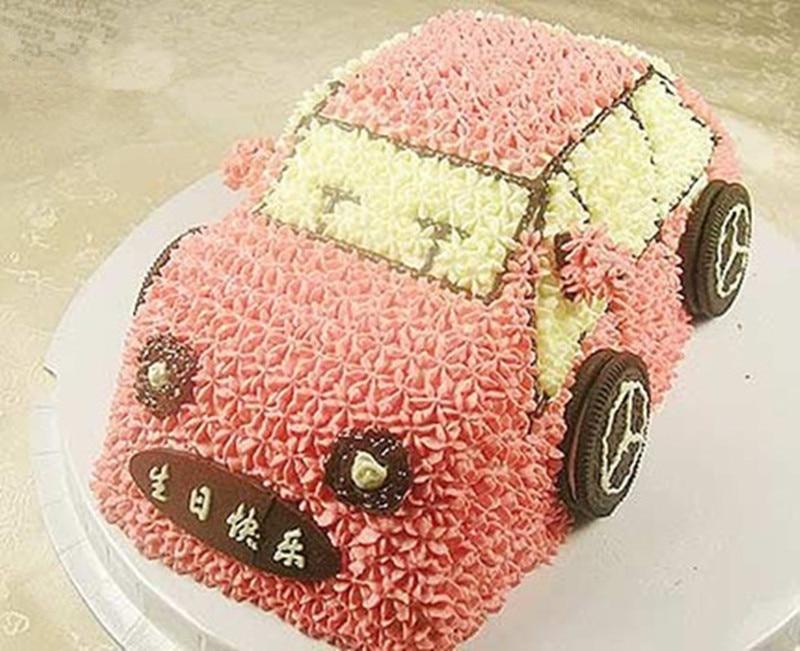 Anode Aluminum Alloy Birthday Cake Mould 3D Car Baking Tool Creative