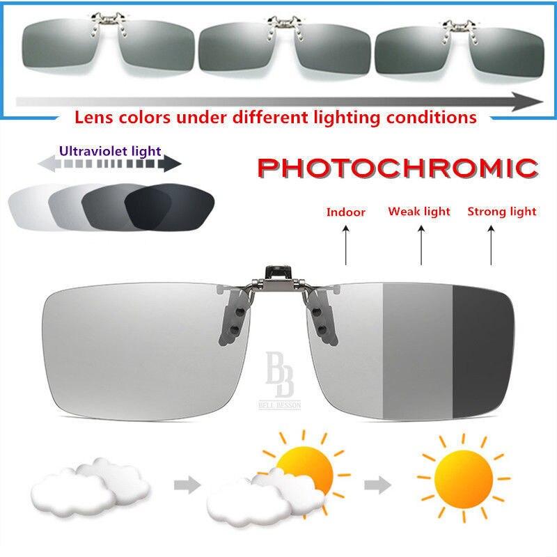 17a2f333eb9 Men s Accessories Sunglasses NEW BELLBESSON Men Women Polarized UV400 Lens  Clip-on Flip-up Myopia SunGlasses