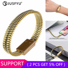 Newest USB Cable Outdoor Bracelet Charger Android phone Micro Data Sync For iPhone 6 6s 7 8 Plus Phone
