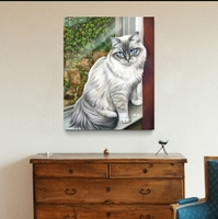 Oil paintings hand painted canvas art realist wall pictures for living room cheap pets customizable cavans painting