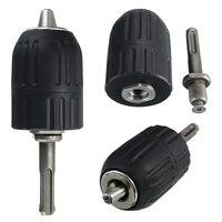 Ferramenta de mão keyless do mandril da broca do impacto de 2-13mm com fechamento e adaptador de sds