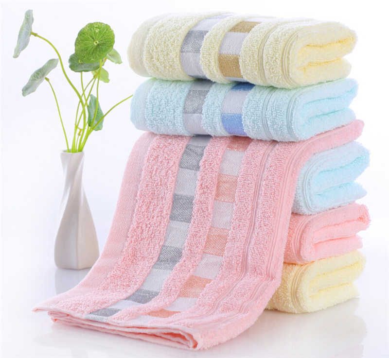New Beach Towel Home Cleaning High Quality Cotton Soft 1Pc Luxury Stripe Cotton Hand Towels Bath Towels Bathroom Set 77x33 cm