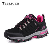 New Sneakers Women Hiking Shoes Outdoor Comfortable Breathable Trekking Hunting Couple Rubber Antiskid Climbing Shoes цены