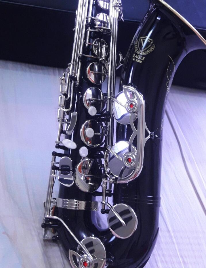 Customize Professional EAGLE ST503VG Bb Tenor Saxophone Nickel Silver key Black nickel b ...