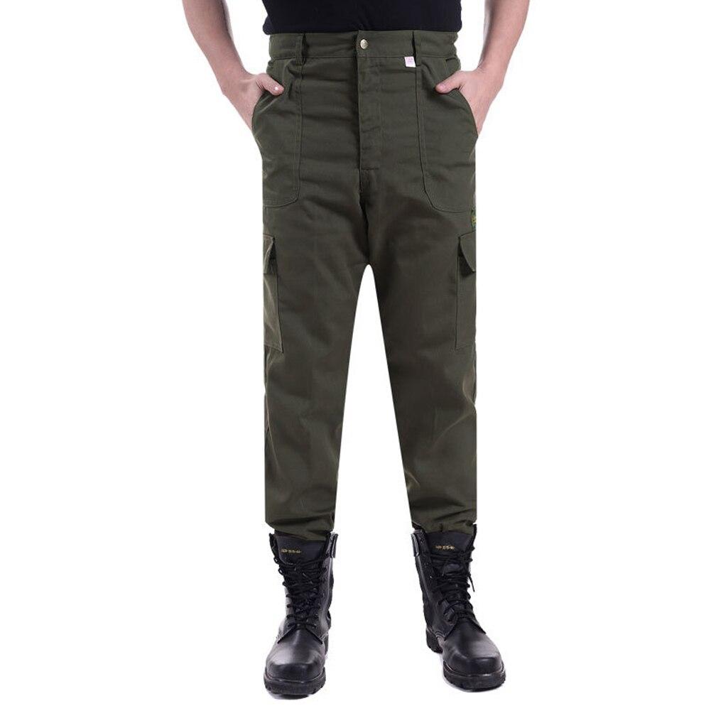 Jungen Kleidung 100% Wahr Hohe Qualität Armee Grün Staub-beweis Verschleiß-beständig Hosen Männer New Cool Arbeits Hosen In Großen Größe