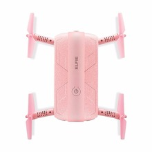 JJRC H37 ELFIE Pocket Selfie Drone Wifi Control Foldable FPV Altitude Hold Mode Portable 2.0MP Cam RTF RC Helicopter Pink F20311