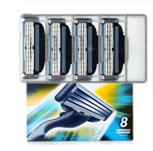 8pcs Men's Safety Razor Blades Face Care Shaving Blades Manual Shaving Cassette For Gillettee Mache 3