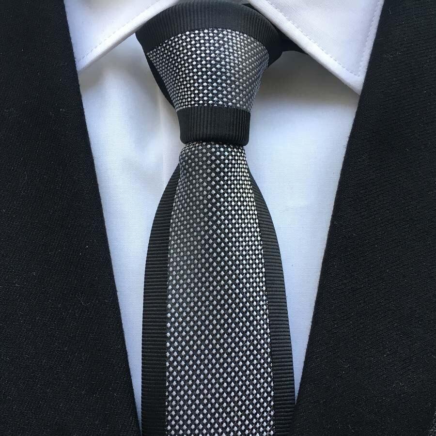 ba2c29f97e Designer Fashion Skinny Ties Gentlemen Luxury Panel Necktie Black Border  with White Spots Free Shipping-in Men s Ties   Handkerchiefs from Apparel  ...