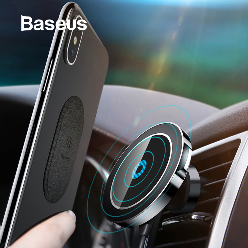 Baseus Magnetic Wireless Car Charger Holder For iPhone X 8 8Plus Magnet Car Phone Holder Wireless Charger For Samsung S9 S8 S7(China)