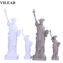 VILEAD 12 20 Statue of Liberty Nature Sand Stone Creative Statues White America Figurine Vintage Home Decor