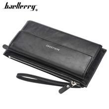 Baellerry Men Wallets PU Leather Phone Pocket Business Wallet Large Capacity Long Top Quality Card Holder Brand Male