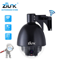ZILNK Новый 1080P Full HD PTZ Скорость купольная ip камера Камера 5x Увеличить Открытый Водонепроницаемый CCTV Wi Fi TF карты Обнаружение движения ONVIF H.264 чер
