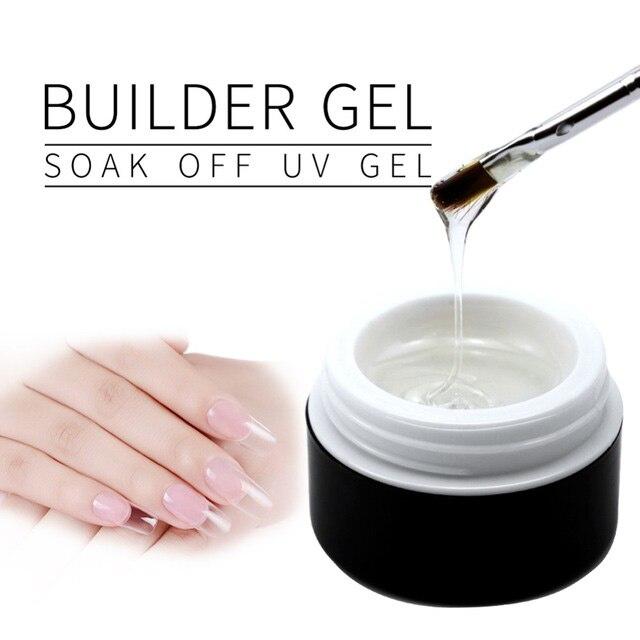 1 PCS Pink / White / Clear UV Gel Crystal Nails Transparent Uv Builder Gel For French Art Tips Manicure Set  Gel