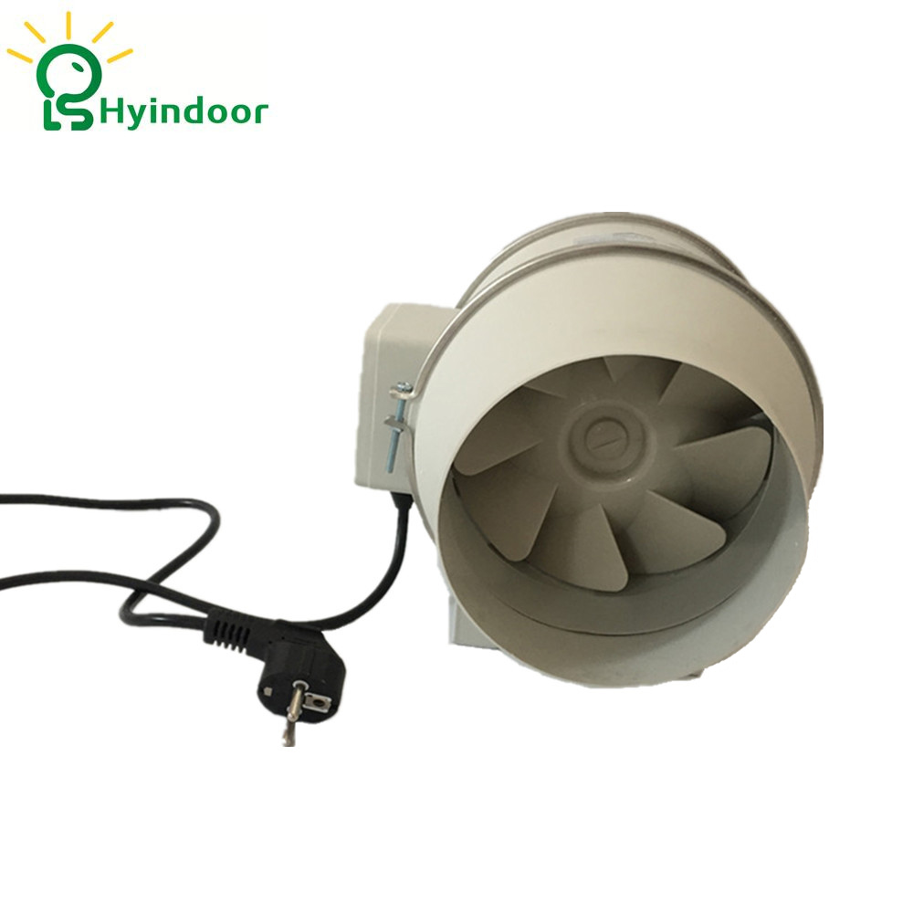 Hydroponic Grow Room 6 Inches 230V Mixed Flow Inline Ventilas
