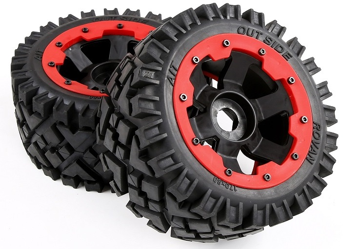 Rovan 1/5 Scale Rc Car Spare Parts Baja 5B Rear Terrian Tyres For Km Hpi Baja 5B 5T 5SC baja cnc alloy rear u shape holder kit for 1 5 hpi baja 5b 5t 5sc rovan km