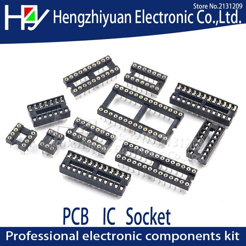 ic-sockets-dip8-dip14-dip16-dip18-dip20-dip28-dip40-pins-round-hole-254-pcb-connector-dip-socket-6-8-14-16-18-20-28-32-40-pin