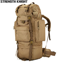 Large Capacity Women Camping Hiking Mountaineering Backpack 65L Mens Outdoor Military Tactical Waterproof Travel Bag