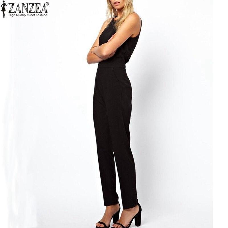 ZANZEA 2018 Musim Panas Rompers Tipis Wanita Jumpsuit Kasual Elegan - Pakaian Wanita - Foto 2