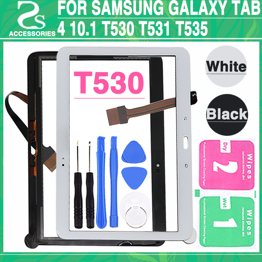 New T530 Touch Screen Digitizer Panel For Samsung Galaxy Tab 4 10.1 T530 T531 T535 Touch Display Sensor Glass Lens Panel