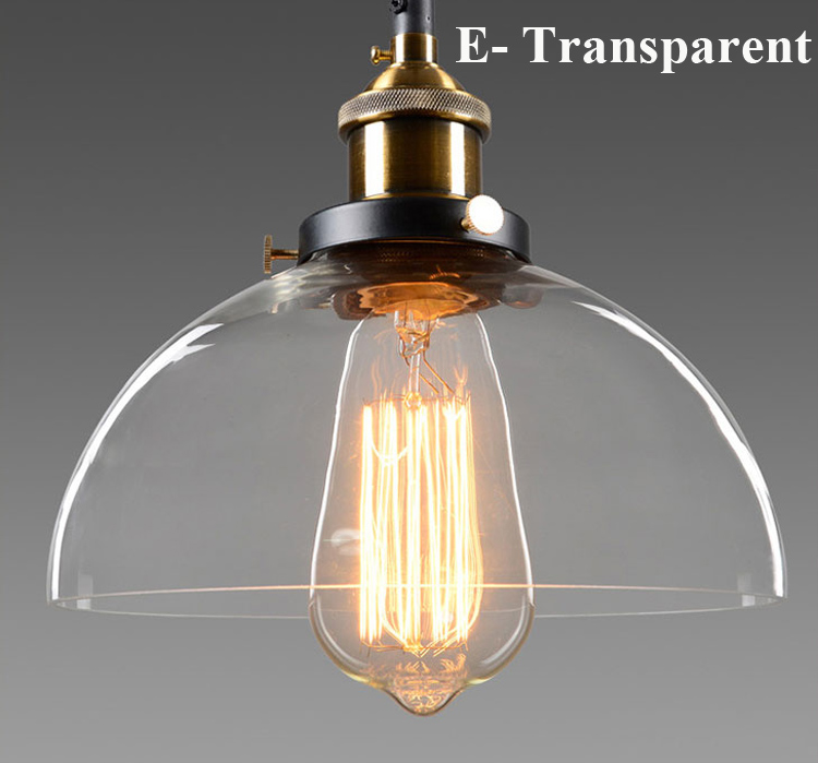 Modern Glass Pendant Lights Industrial Edison Pendant Lamp Bar Restaurant  Light Transparent/Amber Glass Retro Lamparas Colgantes In Pendant Lights  From ...