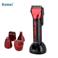 Kemei Waterproof Electric Hair Trimmer Professional Hair Clipper Trimer Shaver Beard Trimmer Nose Rechargeable Cutting Haircut