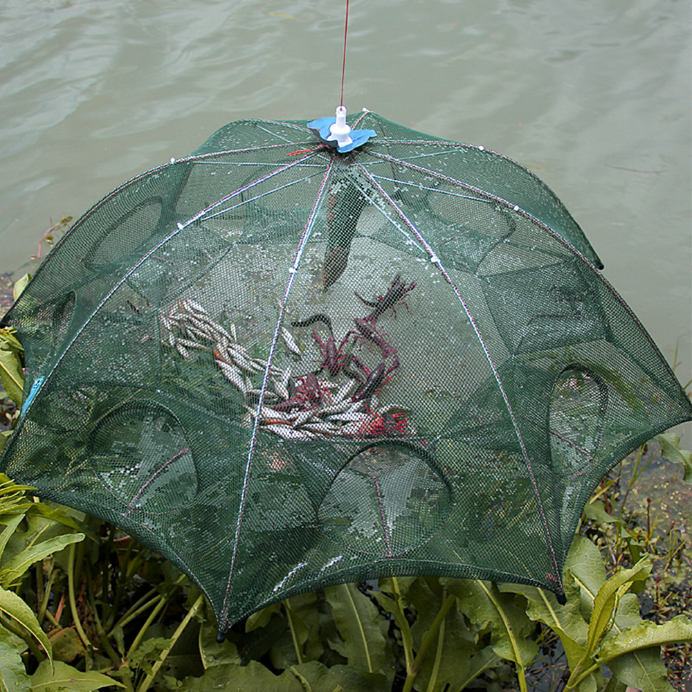 Goture Automatska mreža za ribolov škampi kavez najlon sklopiva - Ribarstvo - Foto 6