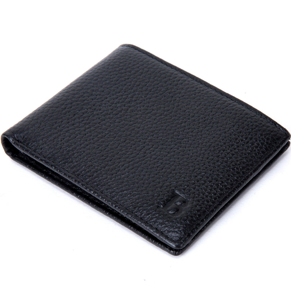 Classic Men's Wallet Short Bi-fold Slim Wallet Credit Card Holder Leather Card Holder