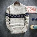 2017 зима пуловеры свитер бренд вязание длинным рукавом О-Образным Вырезом Slim Корейской моды одежда мужчин свитер
