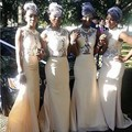 National Dress Nigeria Ivory Mermaid Long Bridesmaid Dresses Sexy Floor Length Dress To Formal Party Appliques African Dresses