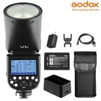 nikon sony Godox V1 פלאש V1C V1N V1S פנס TTL 1 / 8000s HSS סוללת ליתיום פלאש Speedlite עבור פלאש מצלמה Canon Nikon Sony (1)