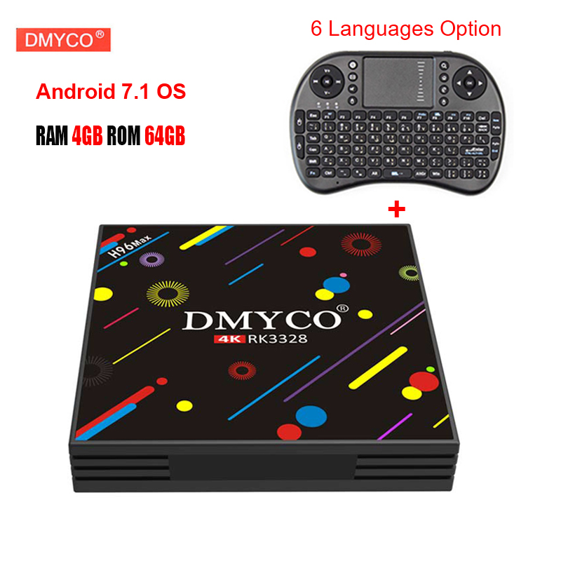 4GB+64GB H96 MAX H3 Android 7.1 TV Box Rockchip RK3328 2.4G WIFI Bluetooth4.0 Gigabit LAN 4K Smart Media Player with i8 keyboard comfast full gigabit core gateway ac gateway controller mt7621 wifi project manager with 4 1000mbps wan lan port 880mhz cf ac200