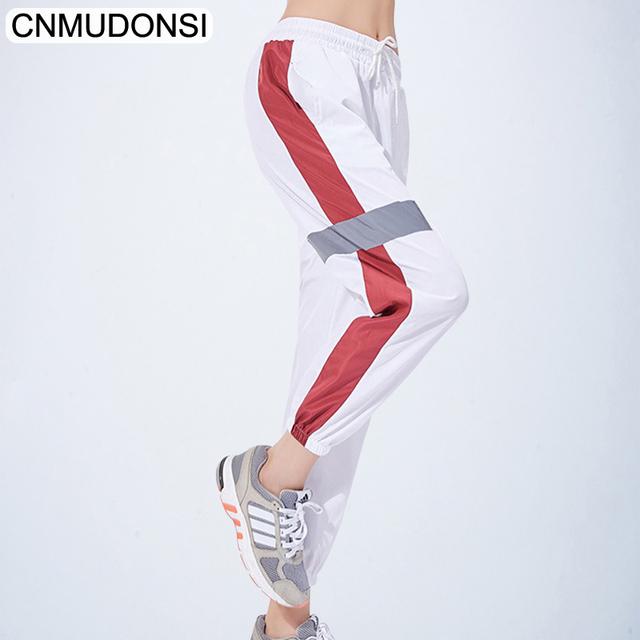 CNMUDONSI 2019 Women Pants Loose Breathable Sports Running Sportswear Sports Wear For Women Gym Sport Running Elastic Pants