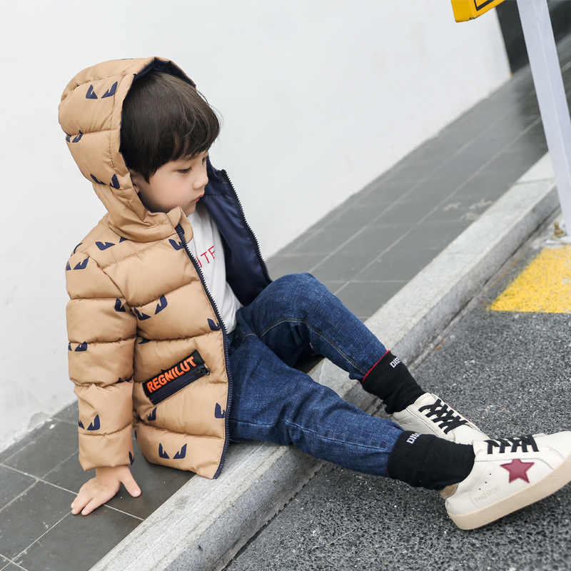 Коллекция 2018 года, новая зимняя одежда для маленьких мальчиков и девочек Детские теплые куртки детская спортивная верхняя одежда с капюшоном 3 цвета