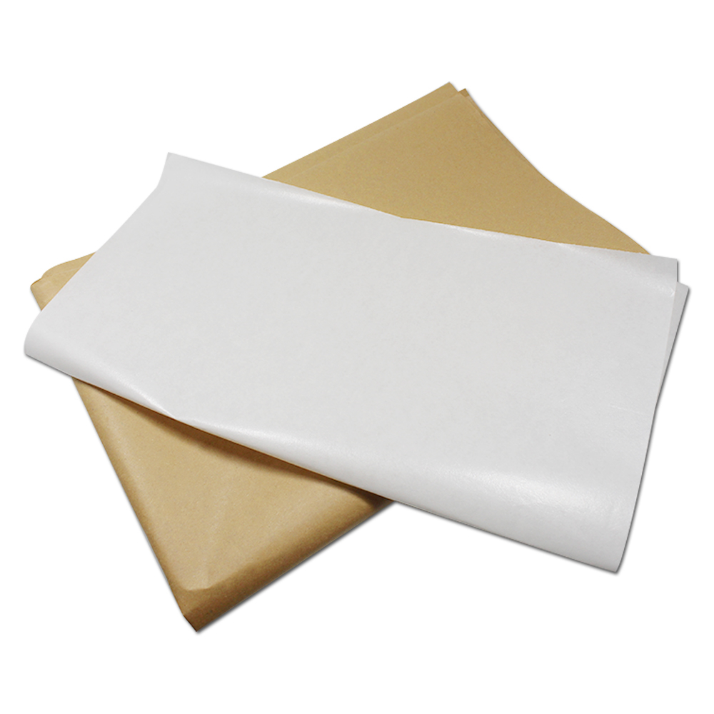 Blank Brown White Kraft Paper Wax Paper Greaseproof Packaging Food Wrapping for Bakery Baking Snack Hamburger 2 Size