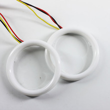 Car Halo Rings Angel Eyes  LED White and Yellow 60/70/80/90/95/100/110/120 MM Motorcycle Car Angel Eyes LED Waterproof DC 12V 3W