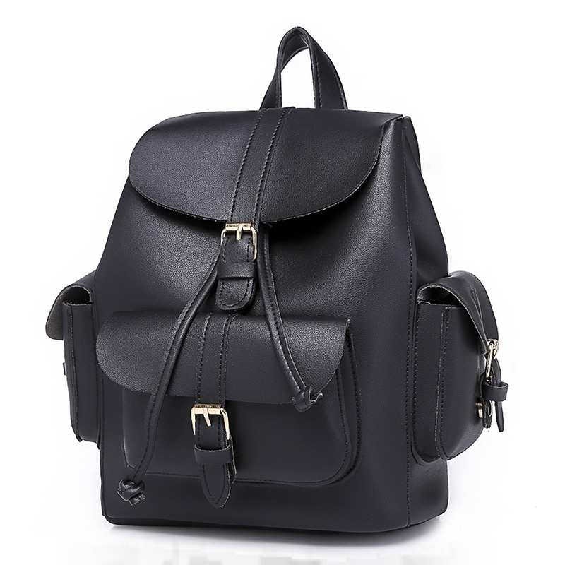 Retro Women Backpack For Youth Girls School Bags Ladies Shoulder Bags Pu  Leather High Quality Vintage Bags Female Backpack Hot-in Backpacks from  Luggage ... 8761ce77e41d0