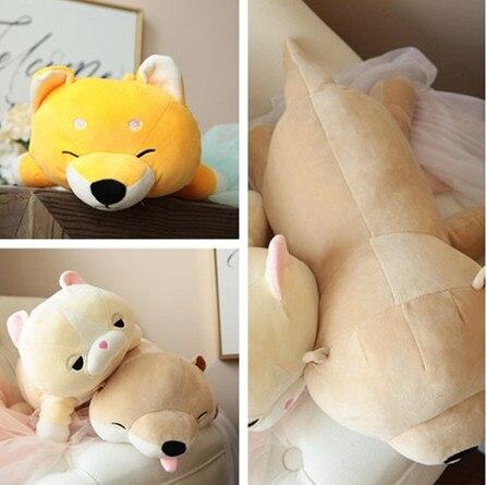 New Arrival Soft Plush Stuffed Animal Akita Dog Doll Anime Toy Cute Cat Pillow For Girl Kid Cute Cushion Brinquedos 45\60cm