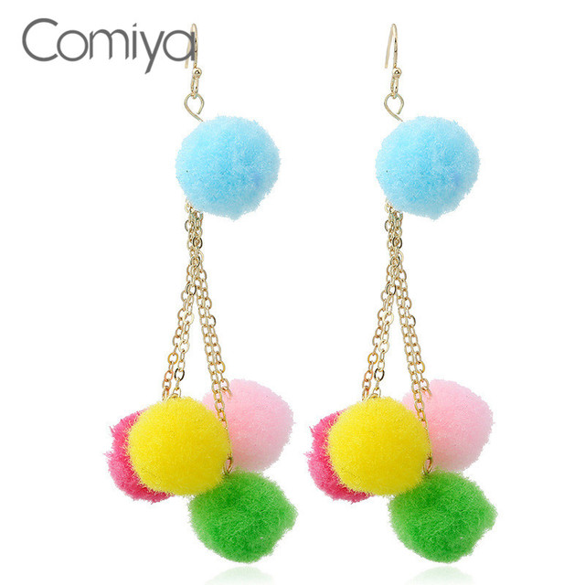 Aliexpress buy comiya cotton balls charms gold color links comiya cotton balls charms gold color links pendants zinc alloy drop earrings for women ethnic pendientes mozeypictures Choice Image