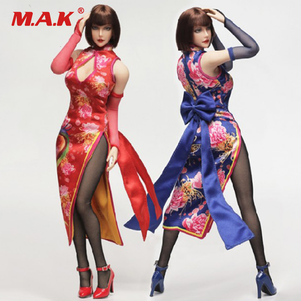 Collectibles FGC2017 1/6 Scale Anna Headplay & Cheongsam Female Character Set With Head For 12