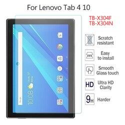 Dla Lenovo TAB 4 10 TB-X304N TB-X304F najwyższej jakości 9H ochronne szkło hartowane na ekran Film sztywne etui 10 ''ultrajasne szkło skóry