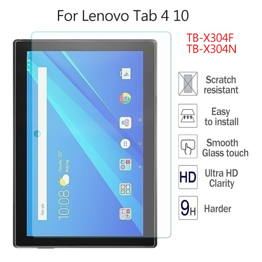 for Lenovo TAB 4 10 TB-X304N TB-X304F Top quality 9H Tempered Glass Screen Protector Film Hard Cover 10 Ultra Clear Glass Skin