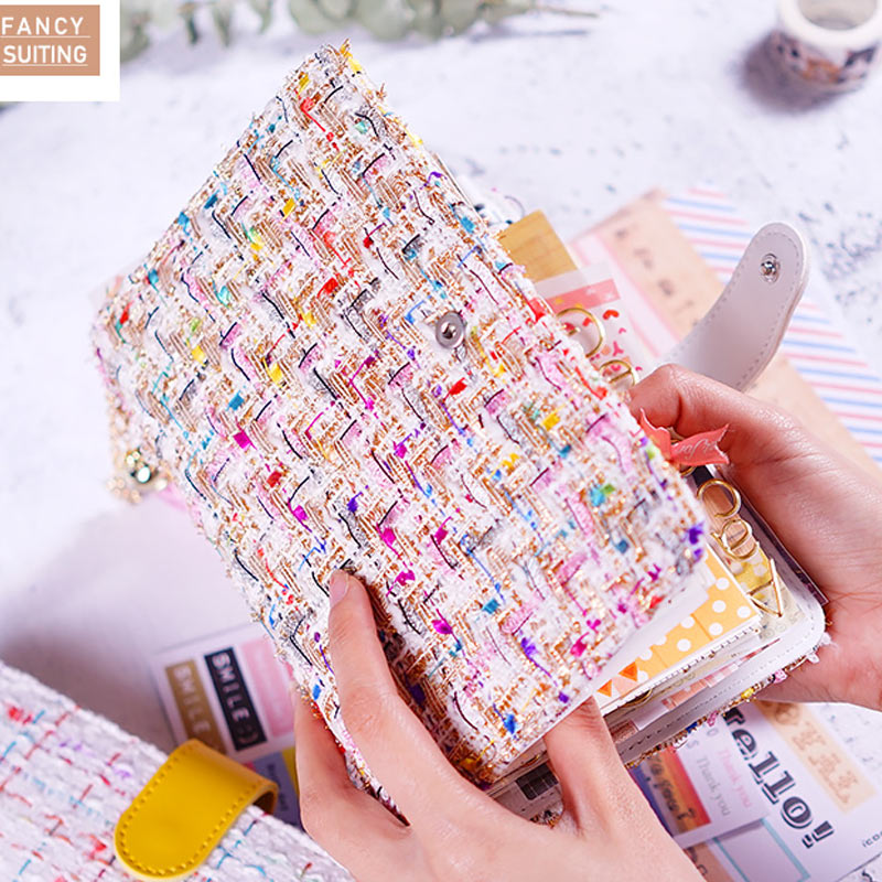 2018 Yi Clothes Leather Notebook A5 A6 Loose Leaf Spiral Notebook Diary Kawaii Notebooks and Jourals Cute Agenda Planner цена