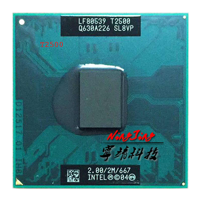 Intel Core Duo T2500 SL8VP SL9EH 2.0 GHz Dual-Core Dual-Thread di CPU Processore 2 M 31 W socket M/mPGA478MT
