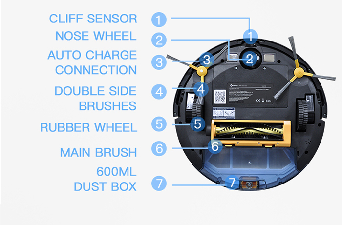 NEATSVOR X500 1800PA Robot Vacuum Cleaner for Wet or Dry Mopping with Map Navigation and Anti Collision Feature 32