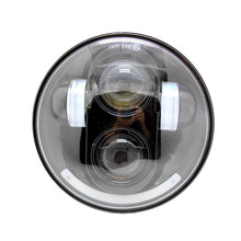 5.75″ 5 3/4 Inch Motorcycle Headlight 40W LED Round H4 Projector Daymaker Head Lamp For Harley / Harley Headlights