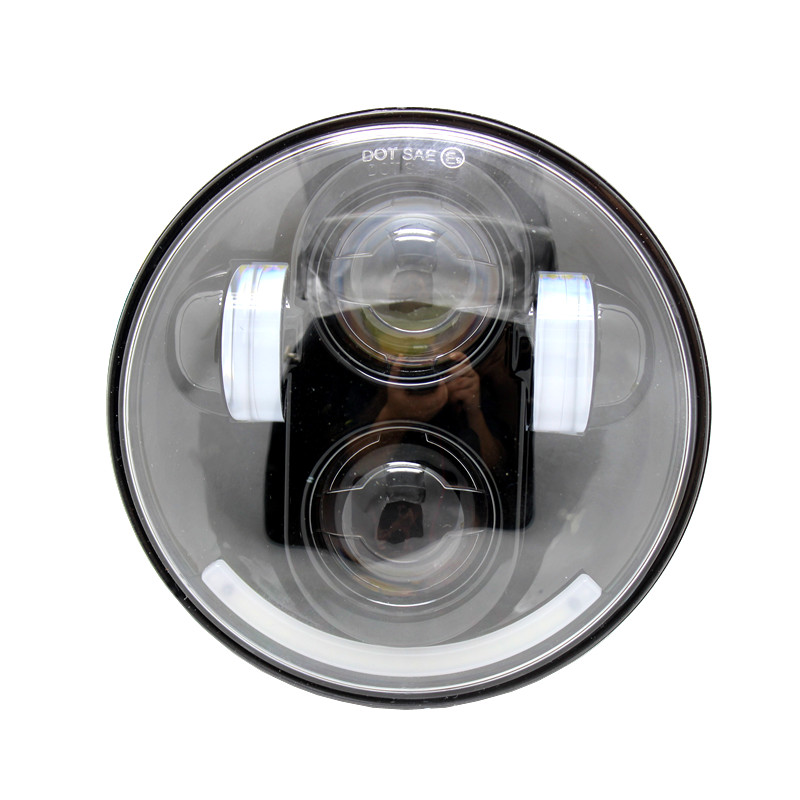 "5.75 ""5 3/4 pouces Moto phare 40 W LED rond H4 projecteur Moto phare pour Harley phares"