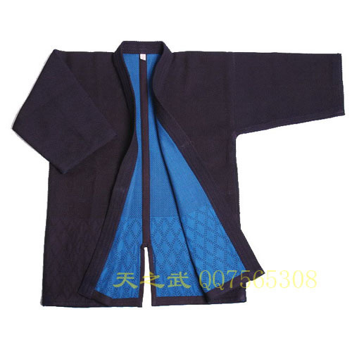 Top Quality Navy Blue Double Layer Kendo Super Kendogi With HiDriTex-Free Shipping-International Kendo Federation Supplier
