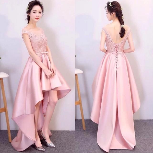 Fashion Lace Applique Sash Satin Bridesmaid Dresses 2017 Hot Sale ...