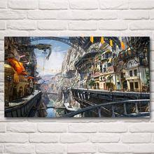Artwork Steampunk Naval Battles War Airsh Art Silk Poster Home Decor Printing 11×20 16×29 20×36 24×43 30×54 Inch Free Shipping