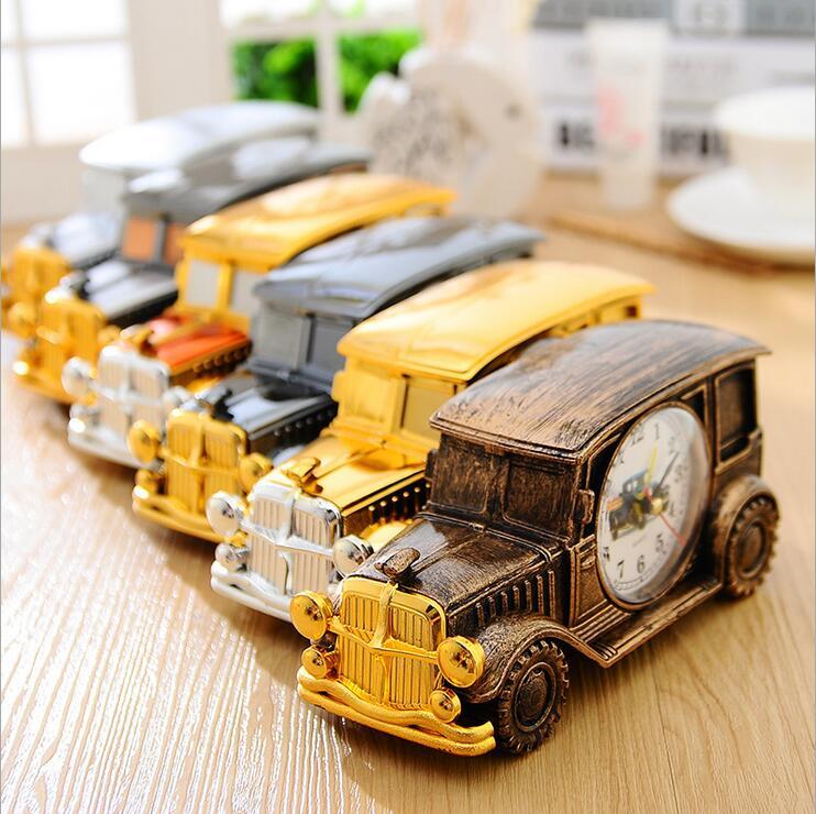 Moda vintage clásico modelo de coche regalo de cumpleaños estudiantes reloj desp